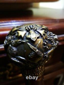 Dewar Highlander Knobbed Style Victorian Wooden Walking Stick/canne