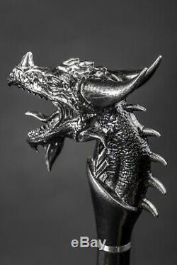 Dragon Exclusif Bâton De Marche, Canne À La Main En Bois, Sculpté À La Main Bâton De Randonnée