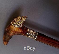 Dragon Main Canne Bâton En Bois Ronce Unique Accessoires Pour Hommes Bronze
