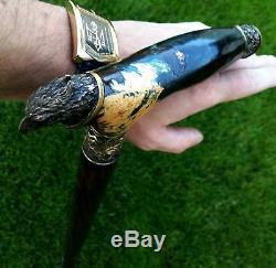 Eagle Gibrid Burl Main Canne En Bois Bâton Accessoires Unique Canes