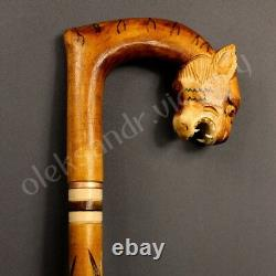 Four Canes Wooden Walking Stick Handmade Hand Carving Exclusif Nouveau Meilleur Prix