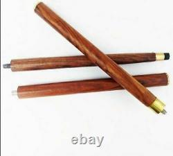 Jaguar Handle Walking Stick Cane Solid Brass Handle Wooden Brown Stick Foldable