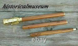 Lot De 10 Brass Telescope Wooden Walking Stick Cane Handle Cadeau De Noël