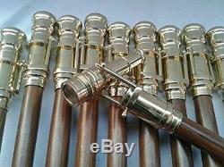Lot De 10 Lunette Walking Brass Bois Stick Canne Poignee Cadeau De Noël