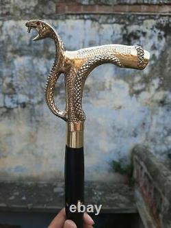 Lot De 5 Brass Big Serpent Poignée Pour Bâtons De Marche En Bois / Canes