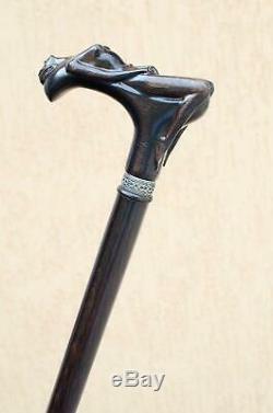 Marche À La Mode Pour Les Hommes De Canne En Bois Nymphe Walking Sticks Canes Chêne Bois