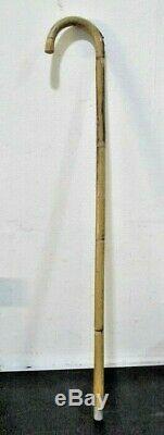 Mesure Antique / Vintage Équestre Cheval Gadget Bâton De Marche En Bois Années 1910