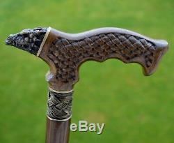 Oak Canes Bâtons De Marche Accessoires De Canne En Bois Dragon Main Reed Hommes
