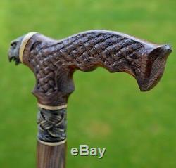Oak Canes Bâtons De Marche Accessoires De Canne Falcon De Bois Reed Main Men