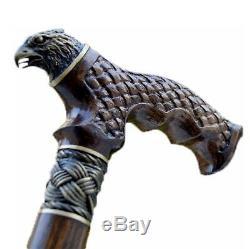 Oak Canes Bâtons De Marche Accessoires De Canne Hawk En Bois Reed Main Men