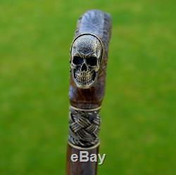Oak Canes Bâtons De Marche Accessoires De Canne Skull De Bois Reed Main Men