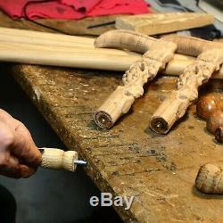 Ours Bâton Canne En Bois Manche Sculpté À La Main Bâton De Randonnée Art Du Bois
