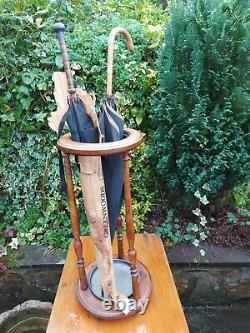 Parapluie En Bois Antique / Stand De Bâton De Marche Rond