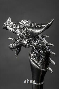 Pâte De Randonnée Exclusive Dragon, Canne En Bois Faite À La Main, Bâton De Randonnée Sculpté À La Main