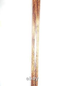Poignée De Bouton D'oiseau Sculpté À La Main De Bâton De Marche En Bois 36