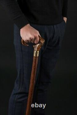 Ram's Horn Limited Collection Cane Exclusive Wooden Walking Stick For Gift
