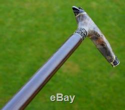 Roseaux Burl Marche À La Main En Bois Bâton Accessoires Unique Canes Falcon