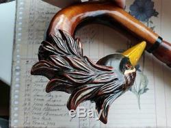 Serpent Sculpté À La Main Canne En Bois Serpent Fête Des Mères Sculpté Nw49