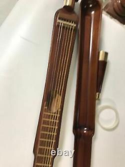 Vieux Bois Marche Unique Bâton De Canne Guitare, Cou Ange Poignée, Mini-conception Guitare