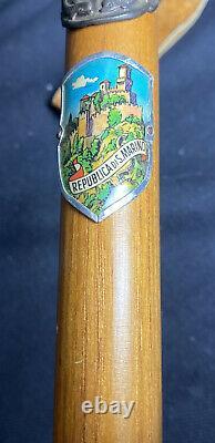 Vintage Antique Ice Axe Walking Stick 34 Par 9 Pick Poignée En Bois Tribero