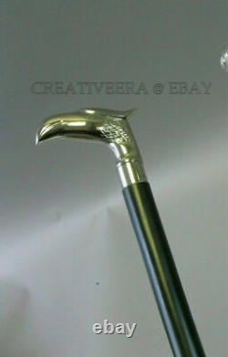 Vintage Wooden Walking Sticks Silver Knob Handle Walking Stick Set Of 5 Unit